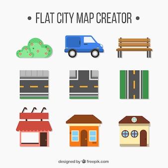 Elements pour créer une ville