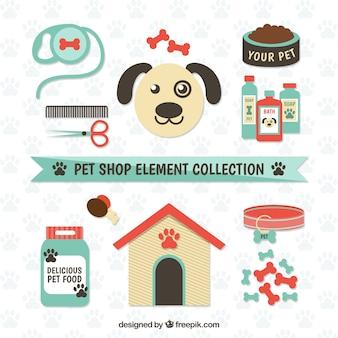 Éléments pour un magasin pour animaux de compagnie