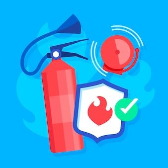 Éléments de prévention des incendies de conception plate