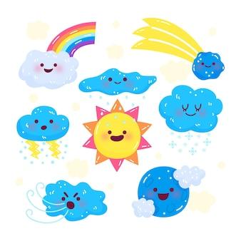 Éléments de prévisions météorologiques plats