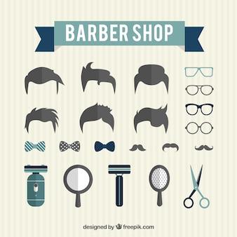 Éléments de salon de coiffure