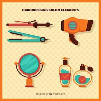 Éléments d'un salon de coiffure