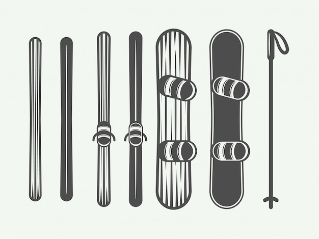 Éléments de snowboard.