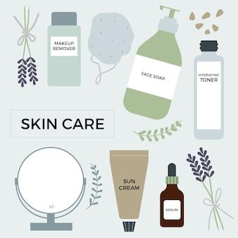 Éléments de soin de la peau