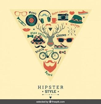 Des éléments de style de hipster