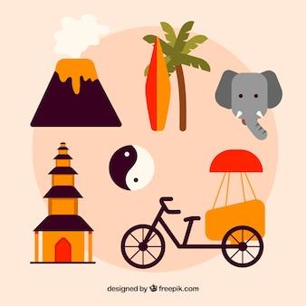 Éléments traditionnels d'indonésie