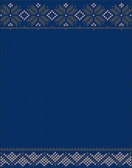 Éléments tricotés et des frontières pour la conception hiver de noël