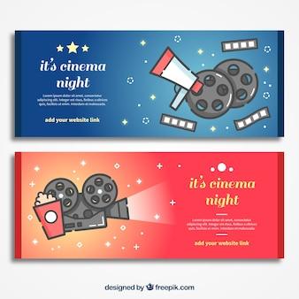 Les éléments typiques du cinéma bannières