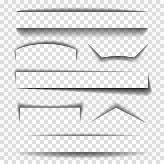 Éléments vectoriels ombre pour les pages
