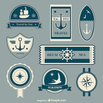 Éléments vectoriels de voyage nautiques
