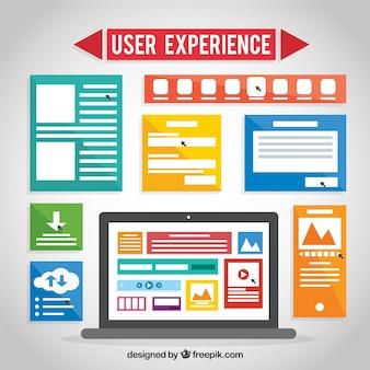 Éléments web en design plat