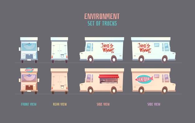 Elemets de l'environnement pour le jeu, l'animation, l'illustration.