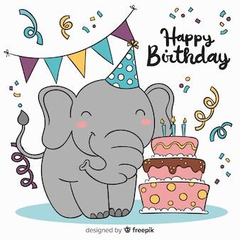 Éléphant d'anniversaire