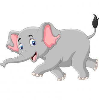 Éléphant de dessin animé isolé