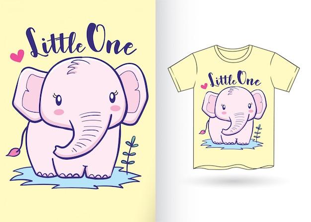 Éléphant dessiné à la main pour t-shirt