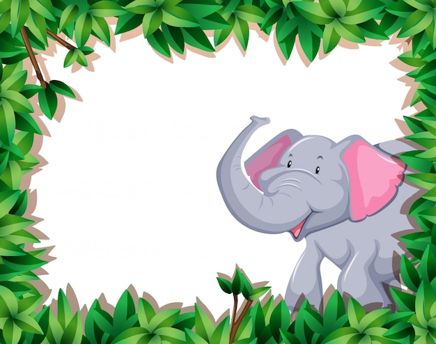 Éléphant à la frontière de la nature