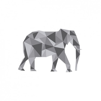 Éléphant illustration polygonale