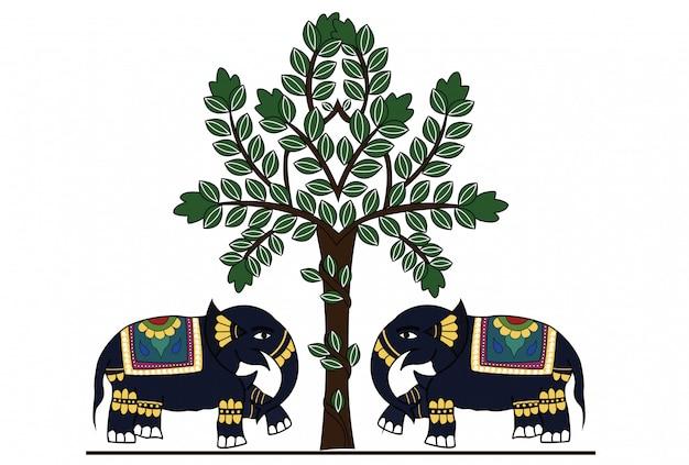 Éléphant indien décoré