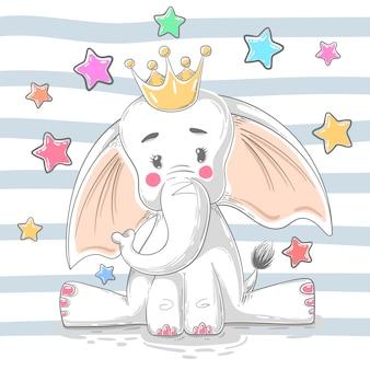 Éléphant princesse mignon