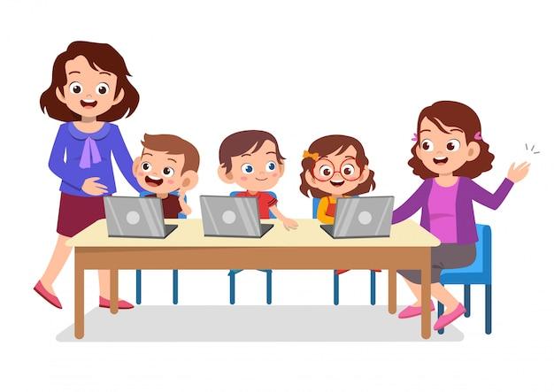 Élève enseignant technologie