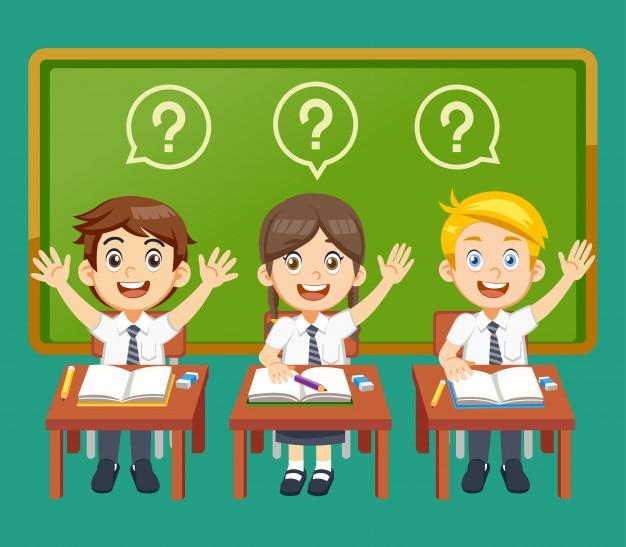 L'élève a une question dans la leçon.