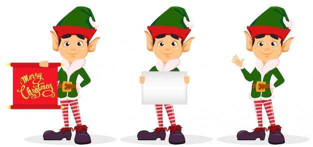 Elf, ensemble de trois poses.
