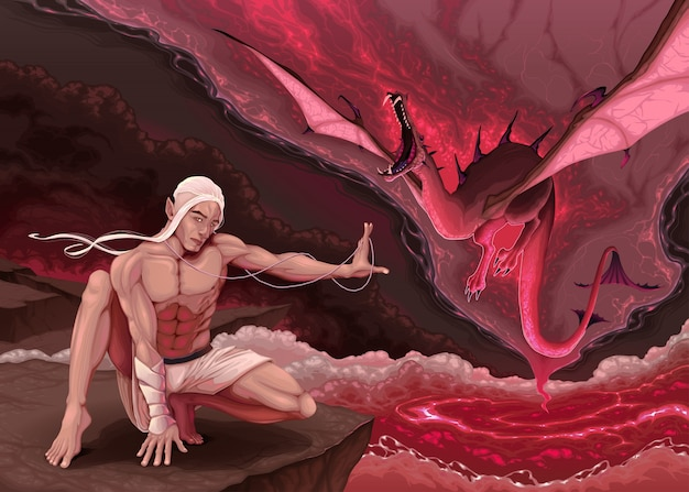 Elf évoque un dragon