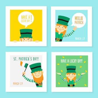 Elfes verts, amis des médias sociaux de la saint-patrick