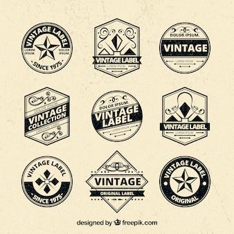 Elgant ensemble de badges vintage