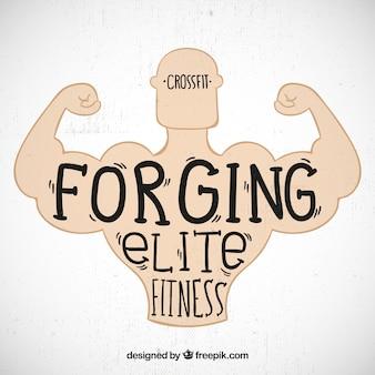 Elite fitness background