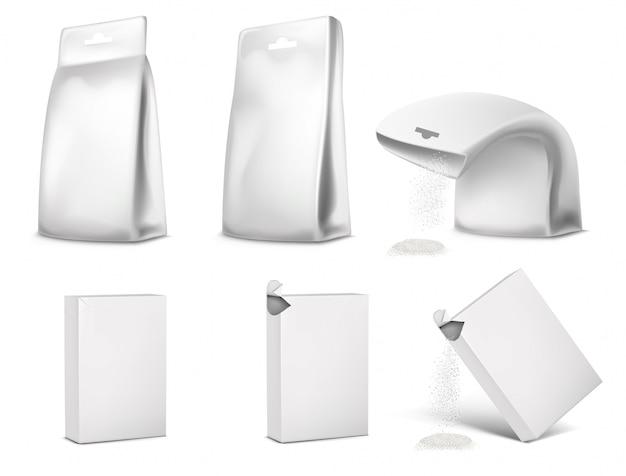 Emballage blanc vide, conception de l'emballage.