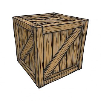 Emballage de boîte en bois