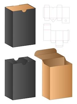 Emballage de boîte conception de modèle découpé