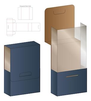 Emballage de boîte conception de modèle découpé.