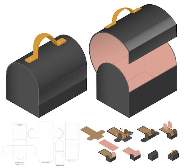 Emballage de boîte découpé à la forme