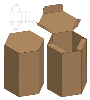 Emballage de boîte à découper modèle pour impression