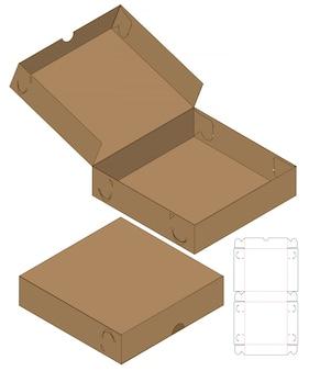 Emballage de boîte die design de modèle coupé.