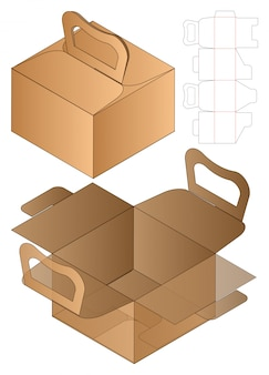 Emballage de boîte gabarit coupé 3d