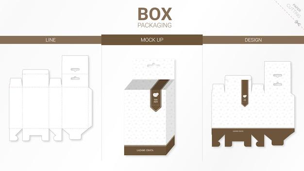 Emballage de boîte et gabarit découpé