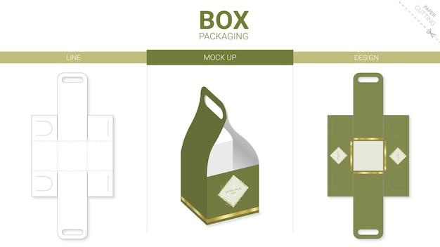 Emballage de boîte et maquette de gabarit découpé