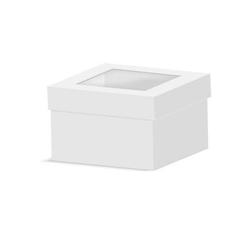 Emballage de boîte de papier vierge avec fenêtre en plastique