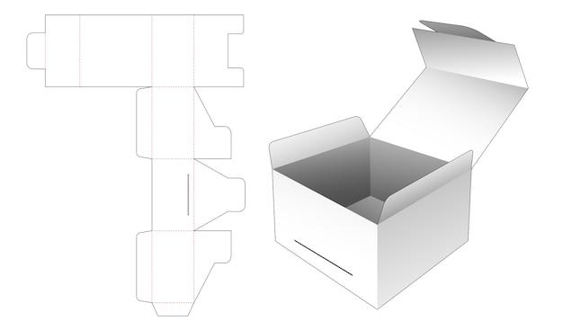 Emballage de boîte à rabat modèle découpé