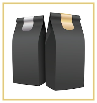 Emballage de café noir