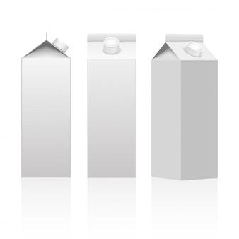 Emballage de carton de lait ou de jus.