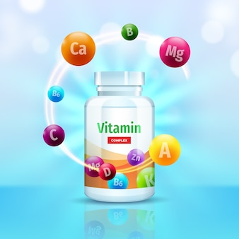 Emballage complexe de vitamines