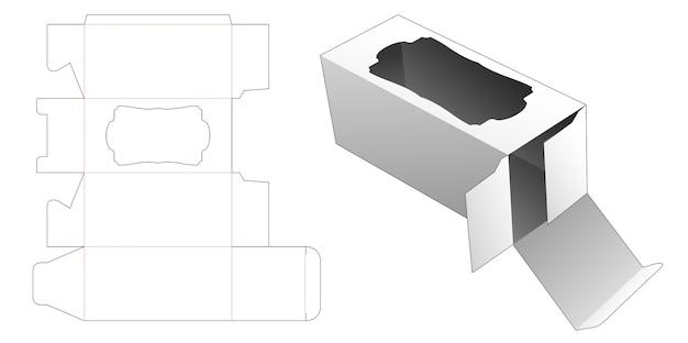 Emballage cosmétique avec conception de modèle de fenêtre vintage die cut