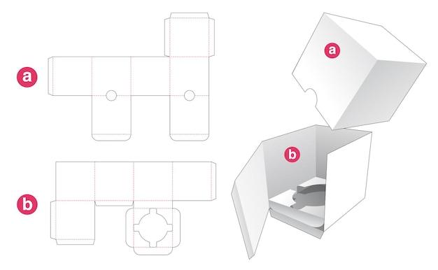 Emballage cosmétique avec couvercle modèle découpé