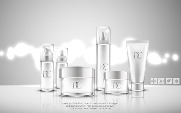 Emballage cosmétique de crème de soin de peau