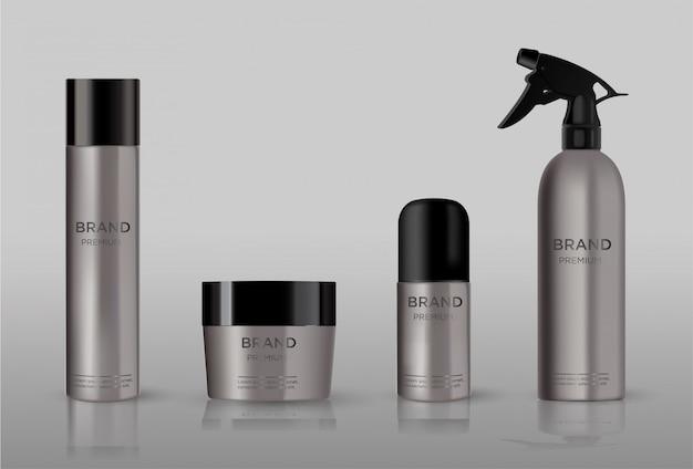 Emballage cosmétique vierge en métal