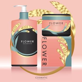 Emballage des produits de beauté cosmétiques en vecteur